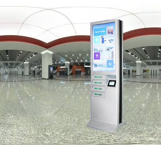 43 Inch Advertising Mobile Phone Charging Station With Safety Electronic Locks